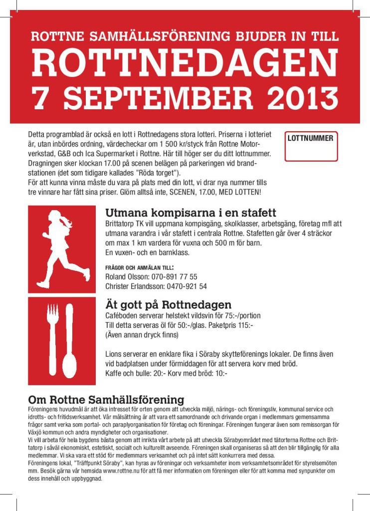 Rottnedagen 2013 Program framsida