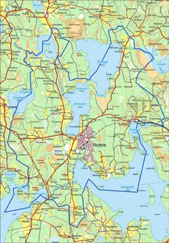 Söraby socken och Rottne karta