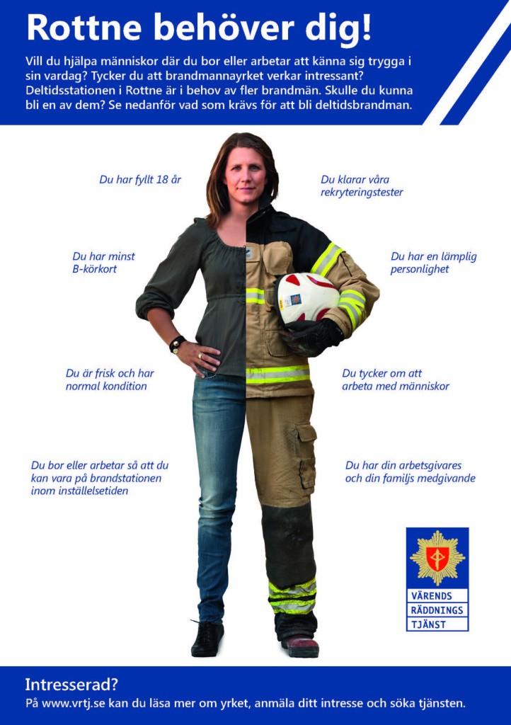 Brandmän på deltid sökes till Värends räddningstjänst