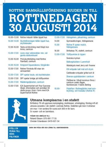 Program för Rottnedagen 2014