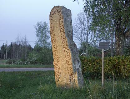 Runstenen i Stojby Foto: Åsa Nyhlén
