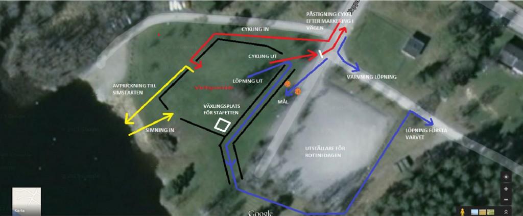 Växlingsområdet under Vidingehem Triathlon