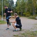 Gustav lär ut Pose-Running inför Vidingehem Triathlon