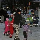 Många barn hjälpte till att dansa ut julen